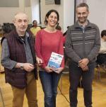 Paco Ramos, Lydia Chaparro y Miguel Ortega, ayer, en el Centro de Cultura Antiguo Instituto. ENEKA FERNÁNDEZ